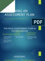 Designing an assessment plan