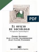 El oficio de sociologo_Bourdieu_LA RUPTURA