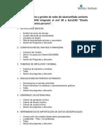 TEMARIO CURSO SEWERCAD GEMS INTEGRADO AL CIVIL 3D Y AUTOCAD