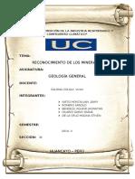 RECONOC. DE MINERALES