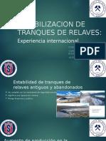 ESTABILIZACION DE TRANQUES DE RELAVES