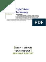 NightVisionTechnology seminar report
