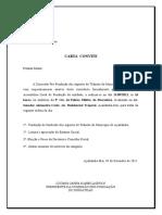 CARTA CONVITE PRO-FUNDAÇÃO DO SINDATRAN AO ADVOGADO