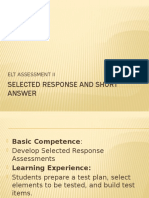 1_Selected response and short answer