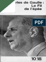 EBOOK - DE GAULLE - LE FIL DE L EPPE - FR
