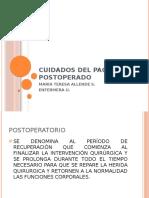 CUIDADOS DEL PACIENTE POSTOPERADO
