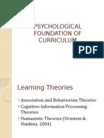 PSYCHOLOGICAL FOUNDATION OF CURRICULUM