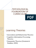 PSYCHOLOGICAL FOUNDATION OF CURRICULUM