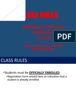 Class Rules - Tip_hydrology