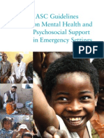 IASC Guidelines Mental Health Psycho Social Support