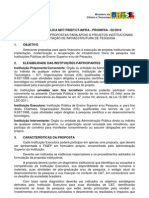 CHAMADA PÚBLICA MCT FINEP CT-INFRA - PROINFRA - 02 2010
