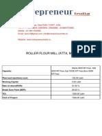 ROLLER FLOUR MILL -ATTA MAIDA & SUJI