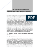 Timespace matters - Chapter 3 The applicability gap between empirical research and design and planning