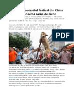 Yulin, controversatul festival din China la care se consumă carne de câine