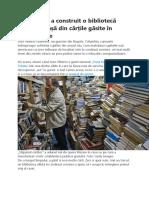 Un gunoier a construit o bibliotecă publică uriașă din cărțile găsite în tomberoane