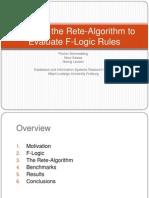 Adapting the Rete-Algorithm to Evaluate F-Logic Rules