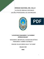 Sanchez Vallejo ,Monografia, Estados Fiancieros y Normas Contabels 1