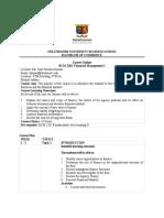 FM1 Course Outline 2019