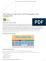 SAP Order-to-Cash Cycle—FI-SD Integration and Configuration
