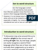 Introduction to word-structure      2