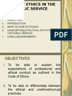 CODE OF ETHICS IN THE PUBLIC SERVICE