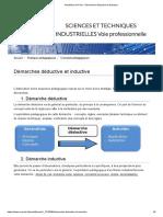 Académie de Paris - Démarches déductive et inductive