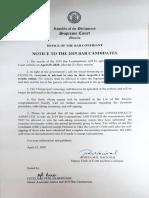 2019 Bar Notice