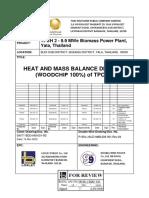 099TT-BDD-HM-001-R2 Heat Balance Diagram (Woodchip 100%) of TPCH 2