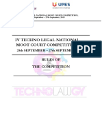 IV Techno-Legal Moot Court Competition-Rule Book