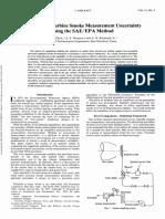 Aircraft Gas Turbine Smoke Measurement Uncertainty Using the SAE/EPA Method