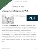 Programação Web - Conheça as Principais Linguagens
