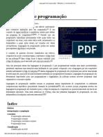 Linguagem de programação Definicao – Wikipédia, a enciclopédia livre