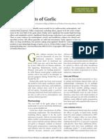 Health Effects of Garlic