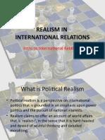 REALISM IN IR