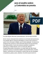 EE.UU. prepara el asalto sobre Venezuela, y Colombia se presta para ello - Resumen Latinoamericano