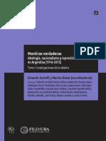 Sartelli y Kabat coord. Mentiras verdaderas.Ideologías, nacionalismo y represión en Argentina 1916-2015. Tomo I.