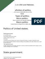 Politics in USA and Pakistan