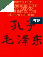 Creel Herrlee Glessner - El Pensamiento Chino Desde Confucio Hasta Mao Tse Tung