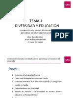 Tema 1. Diversidad y Educación. Sara 2018-19