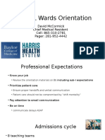 UL Wards Orientation