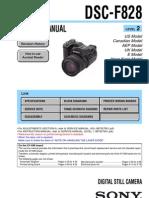 Sony DSC-f828 Camera Service Manual