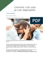Cómo convivir con una persona con depresión