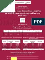 Informe Comisión Nacional de Búsqueda México CNB 6 Enero 2020 Conferencia Prensa
