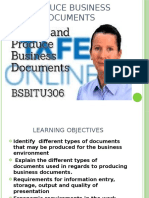 Produce business documents 3