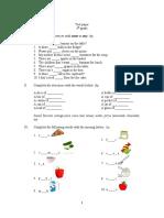 Test clasa a IV-a C
