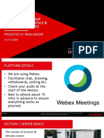 PCW-SF Webinar 3 and 4 Server Fundamentals and Advanced Features