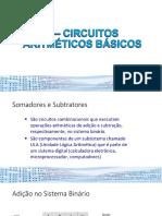 5 – Circuitos Aritméticos básicos