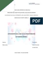 Antecedentes del Covid-19 y su Transformacion en Pandemia Mundial