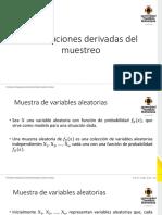 3.4 Distribuciones derivadas del muestreo