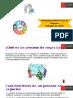 Introducción a los Procesos de Negocios y Definición de un ERP